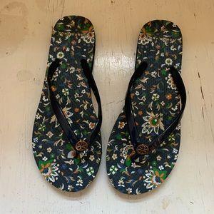 Tory Burch Flip Flops.  New! Size 9